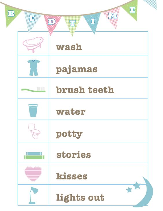 FREE Bedtime Routine printable from Love and Life Cards