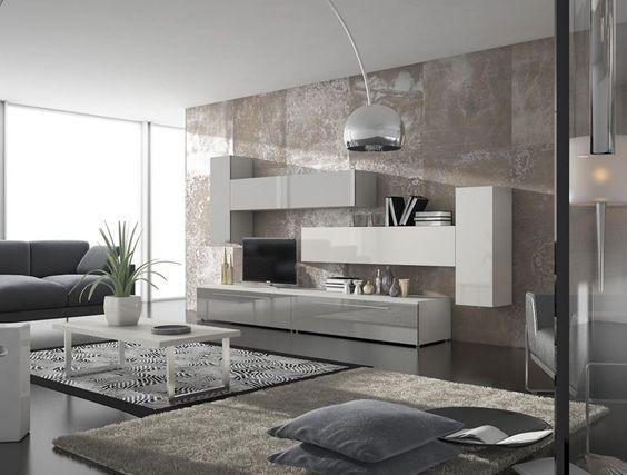 Salón de líneas simples y moderna Recuerda que en #decoracion