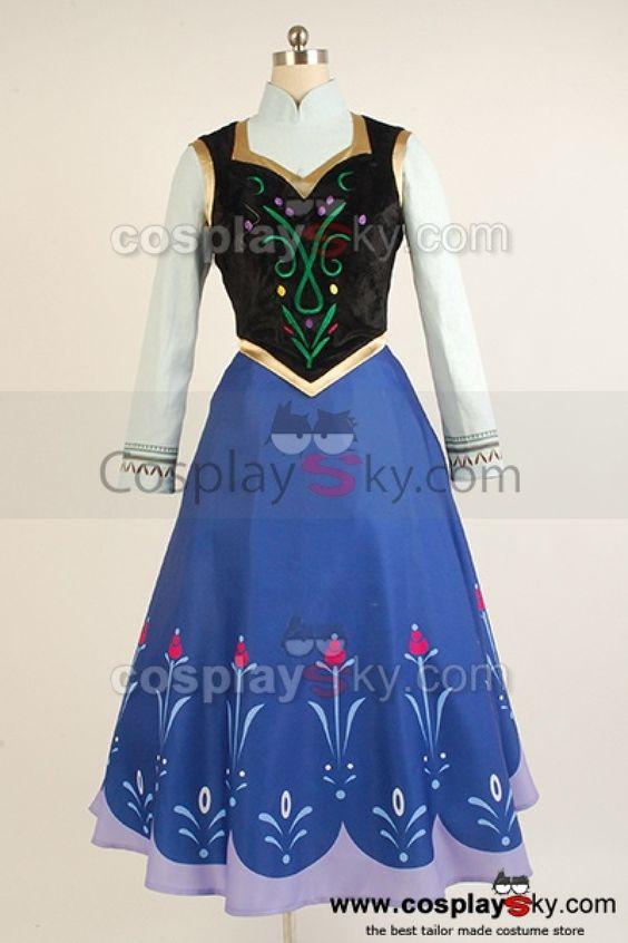 anna frozen vest   2013 Disney Film Frozen Princess Anna Cosplay Costume ---- Frozen ...