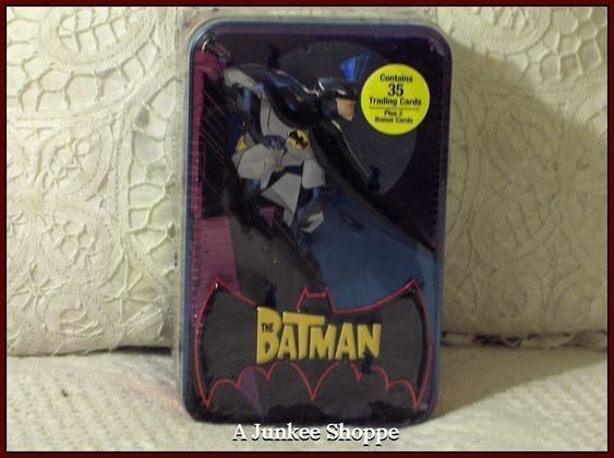 THE BATMAN Cartoon Network 2004-2008 Animated 35 Trading Card Set In Sealed Tin  Junk 715 http://ajunkeeshoppe.blogspot.com/