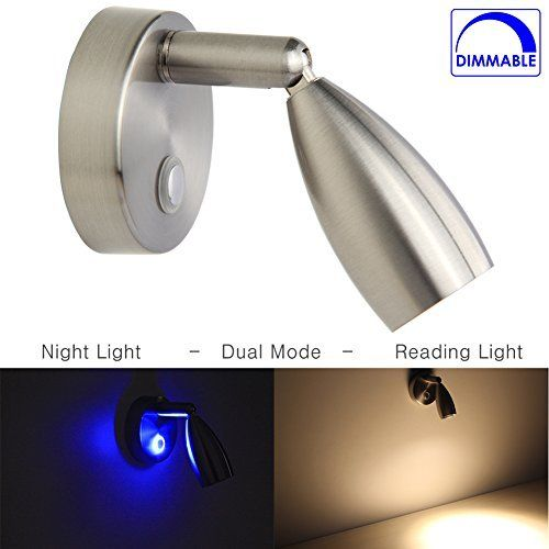 Rv Reading Light Led Directional Spot Light For Boats Rvs Interior Lighting Touch On Off Dim Switch Brushed Nickel 1 Reading Light Led Lights Interior Lighting