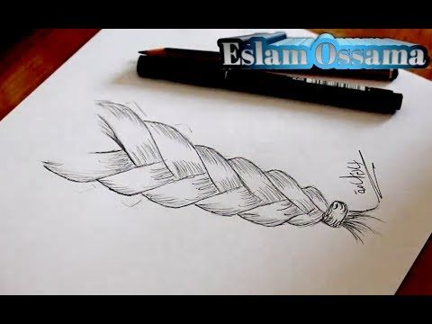 تعلم رسم الشعر تعلم رسم تسريحة الظفيرة تعليم الرسم بالرصاص Youtube Face Drawing Art Drawings Art