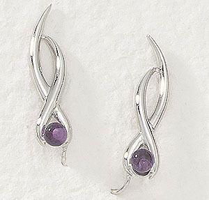 Amethyst  Ear Pin from my favorite jewelry designer