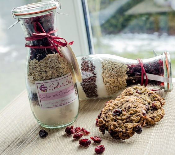 Backmischungen - Cookies mit Cranberries - ein Designerstück von Bake-it-Isi bei DaWanda