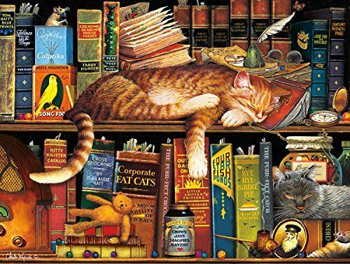 Buffalo Games The Cats Of Charles Wyoscki Cat Tales 750 Piece Jigsaw Puzzle Only 9 97 Save 29 Cat Puzzle Cat Jigsaw Puzzle Jigsaw Puzzles