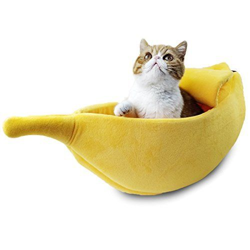 Cute Banana Cat Bed Large Size Pet Cave Soft Cat Cuddle Bed Pet Supplies For Cats Kittens Cat Kitten Pet Kitten Beds Cat Bed Dog Beds For Small Dogs