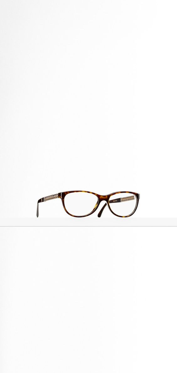 Oval acetate eyeglasses with... - CHANEL