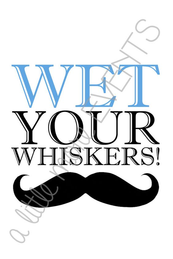"Little Man/Mustache Party ""Wet Your Whiskers"" sign"
