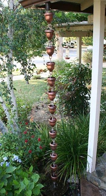 Acorn Cups Copper Rain Chain 2688: