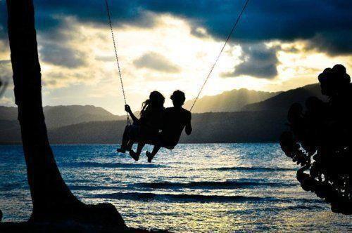 Couple on a Swing, awww