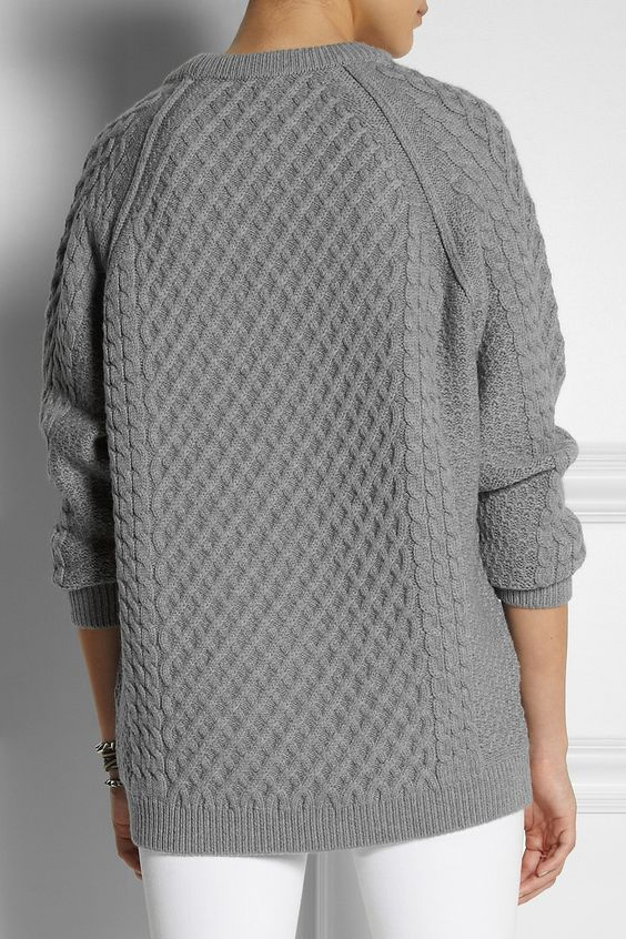 Chinti and Parker | Lattice and cable-knit merino wool sweater | NET-A-PORTER.COM