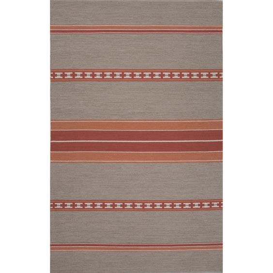 Traditions Made Modern Cotton Flat Weave MCF04 Cuzco Cement / Oyster Gray Rug