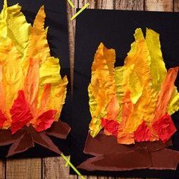 Feuerstelle -Papier reißen
