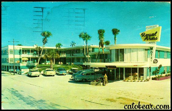 royal arms motel daytona beach florida postcard. Black Bedroom Furniture Sets. Home Design Ideas