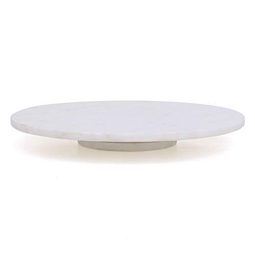 Organic Home 12 Inch White Marble Rotating Cake Stand Lazy Susan Christmas Gifting Dining Gifting Organic In 2020 Rotating Cake Stand Marble Cake Stand Lazy Susan
