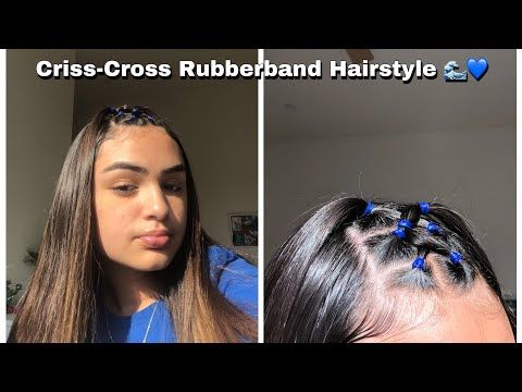 Criss Cross Rubberband Hairstyle Youtube Rubber Band Hairstyles Natural Hair Styles Hair Styles