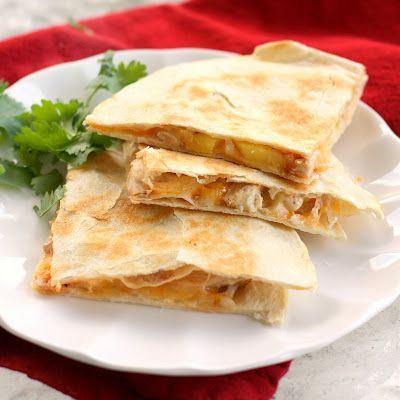 Grilled Pineapple and Chicken Quesadillas Recipe - this is AMAZING recipe
