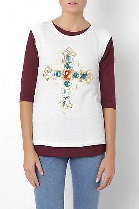 Camiseta cruz de pedreria-elarmariodelatele