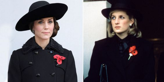 21 looks en los que Kate Middleton se inspiró en Diana