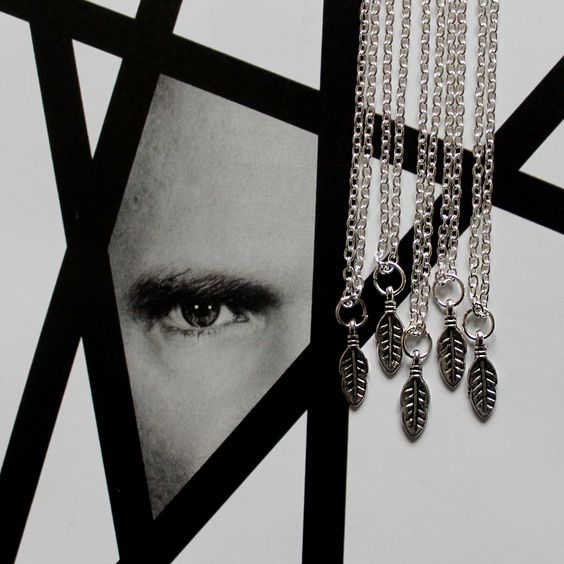 Feather necklace  www.hanas.bigcartel.com