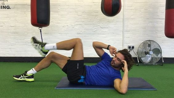 Try this little abs blaster at the end of your workout .  Do 10 reps of each…