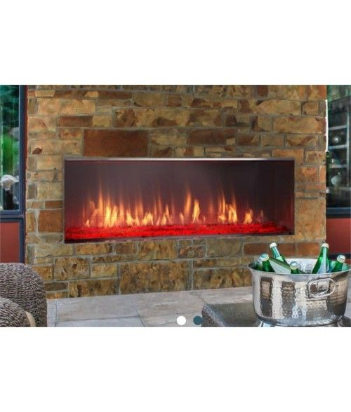 Majestic Lanai 51 Outdoor Vent Free Linear Gas Fireplace