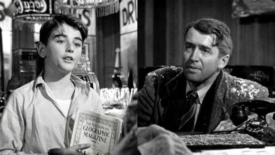 1. Bobby Anderson And James Stewart, George Bailey ('It's a Wonderful Life'):