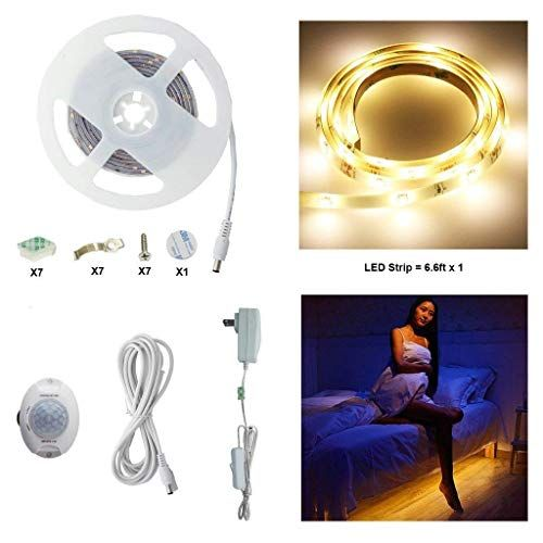 Motion Activated Bed Light Aiboo Flexible Led Strip Sensor Night