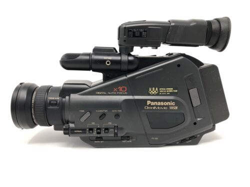 Panasonic Pv 332 Omnimovie Vhs Camcorder Near Mint Fats Shipping Cameras For Sale Movie Camera Vintage Movies