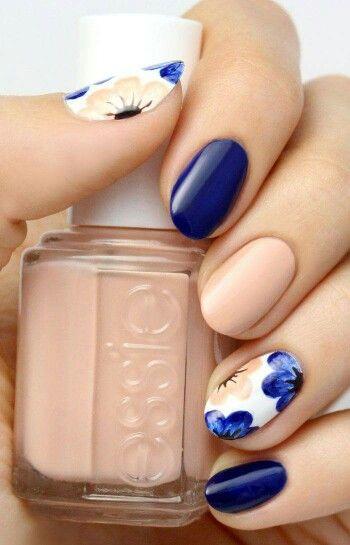 Azul y piel