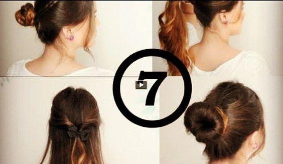 7 peinados diferentes para el diario     http://www.youtube.com/watch?v=6SUq6CdAFw8=PL365EF79FC01C643E=7=plpp_video