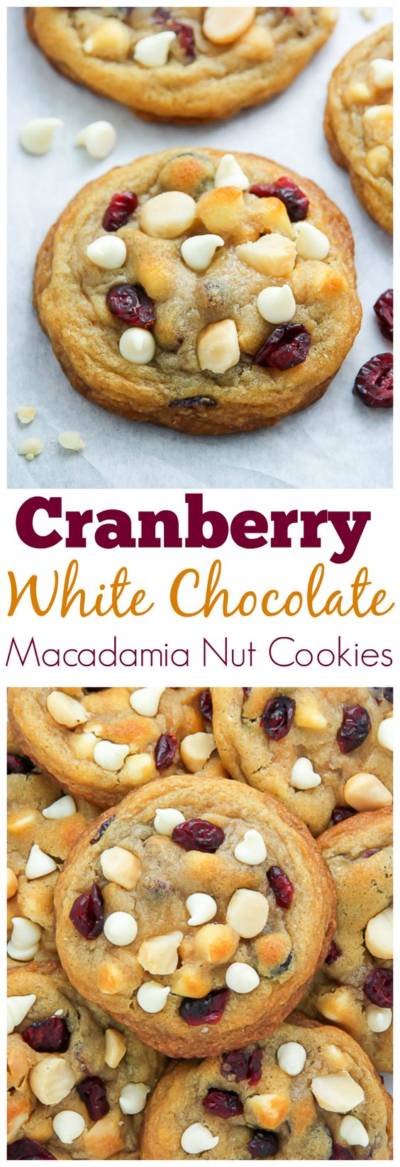 Cranberry White Chocolate Macadamia Nut Cookies | Recipe ...