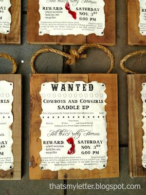 Make my Day kids- luxe kinderfeestjes - cowboy party uitnodigingen