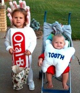 De muela y cepillo de dientes. ¡Ideal !