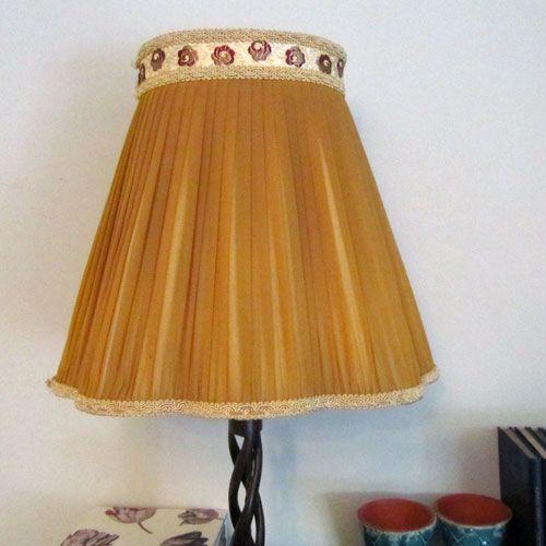 Beautiful Pleated Golden Yellow Vintage Lampshade Vintage Lampshades I Love Lamp Lamp