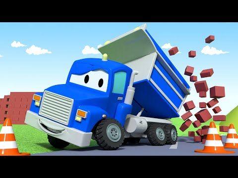 El Camion Volquete Carl El Super Camion En Auto City Dibujos Animados Para Ninos Youtube Con Imagenes Volquete Camion Volquete Camion De Bomberos