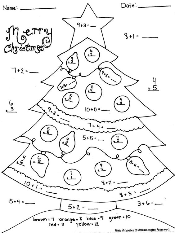 Christmas Addition Worksheet Great for Morning Work – Free Christmas Math Worksheets First Grade