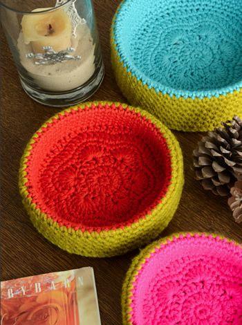Novedosos cuencos - Deco Crochet