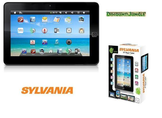 """I caved & bought myself a 10 inch Slyvania Tablet. I named it """"Le'Tabbbbbbblet""""."""