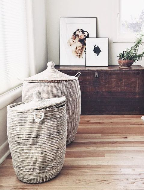 How to Organize Your Room with Style in 10 Steps  Dirty Laundry Storage  BedroomHamper. BRAN S Laundry basket with lining  rattan   The two  Rattan and