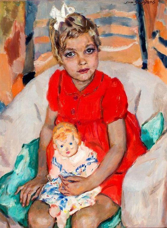 Jan Sluijters Jr. (1914-2005) — Portrait of Margrietje Nolet, 1946 (623×850)