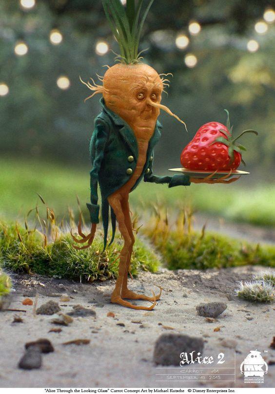 Alice Through the Looking Glass: Carrot Concept, Michael Kutsche on ArtStation at https://www.artstation.com/artwork/4EoK4
