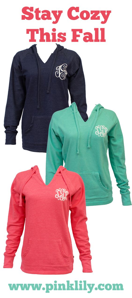 Your true colors are sure to show in this new vinyl monogram hoodie! It's perfect year round - from breezy spring afternoons in the backyard to sipping hot cocoa on a cold winter's night.