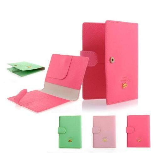 Mens-Ribbon-Document-Holders-Passport-Holder-Cover-Case-Cuties-Green-Pink-Rosy