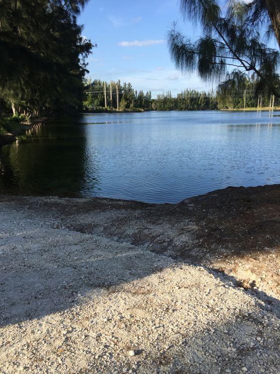 Walking through Wolf Lake Park in Davie, Florida