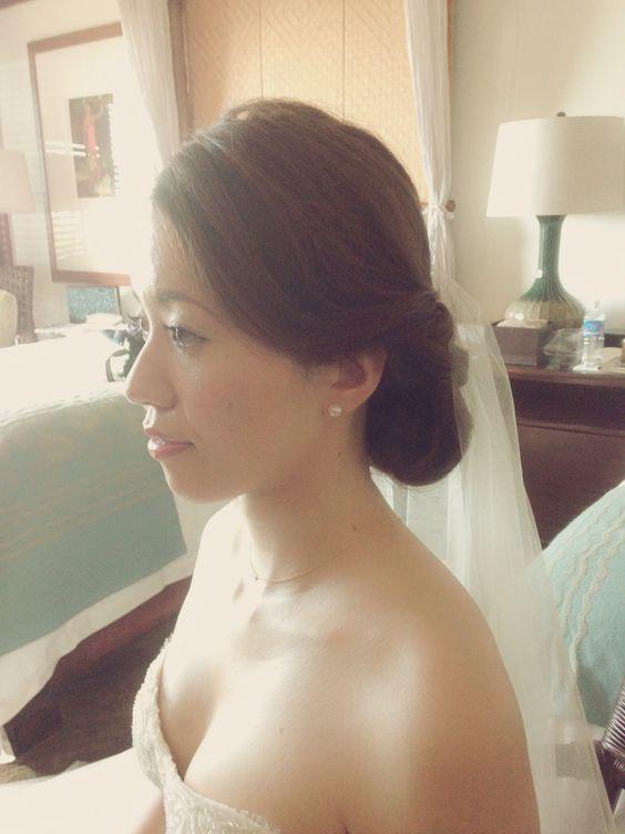 ハワイウエディングのヘアメイクお手伝いいたします! wedding hairstyle makeup hawaii ウェディング ヘアメイク ウエディング ヘアーメイク ハワイ 結婚式