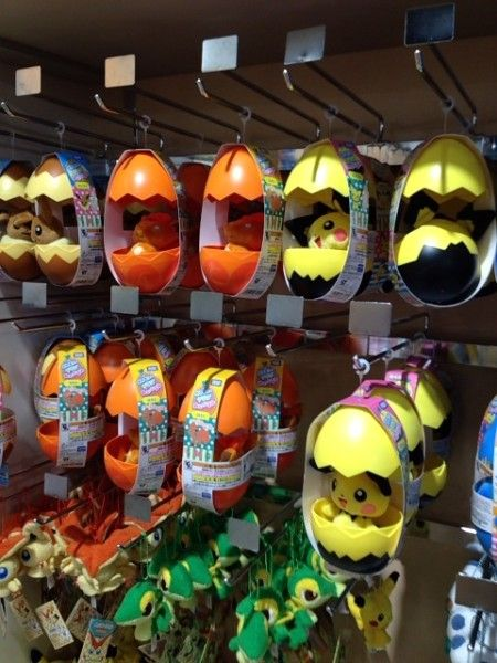 Pokemon Photos from Tokyo - Vulpix Pichu egg plush dolls at Pokemon Center Tokyo