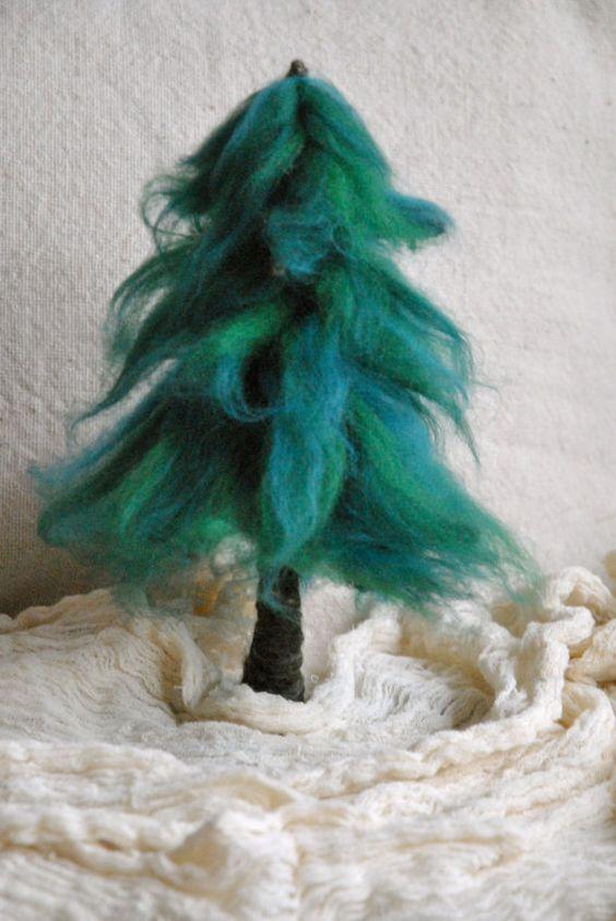 Fir Needle Felted Waldorf Inspired : Pine, Evergreen tree ...