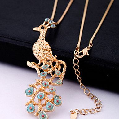 Women's Gold Peacock Bib Necklace – USD $ 9.99