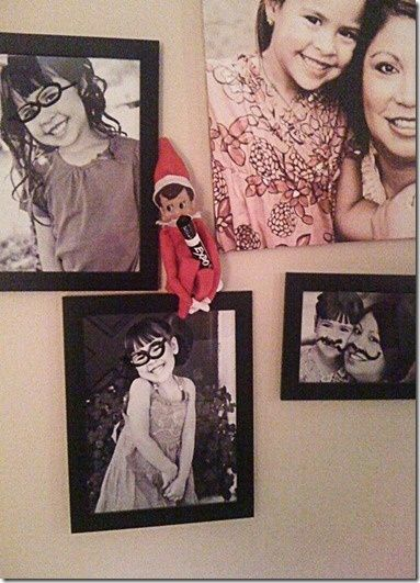 SILLY ELF AND DRY ERASE MARKER ON PICS holidays funny